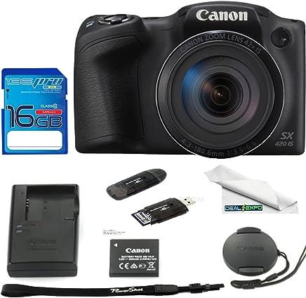 Canon PowerShot SX420 - Cámara digital con zoom óptico 42x (compatible con Wi-Fi y NFC, color negro)