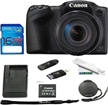 Canon PowerShot SX420 Digital Camera w/42x Optical Zoom - Wi-Fi & NFC Enabled (Black) - Deal-Expo Bundle
