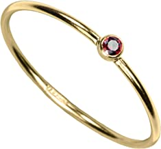 uGems 14kt Gold Filled Color CZ Stacking Rings