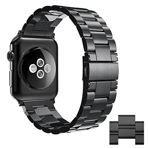 f87e19e95ed Simpeak Stainless Steel Band Strap compatible for Apple Watch 42mm Series 1  Series 2 Series 3