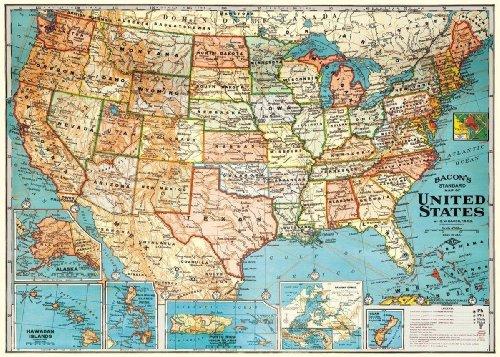Decorative Wrap 20X28 USA Map |