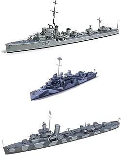 3 Tamiya Ship Models - US Navy Destroyers – USN DD445 Fletcher, DD-797 Cushing and DD412 Hammann (Japan Import)