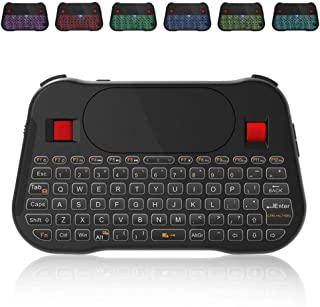 Backlit Mini Keyboard, T18 Mini Wireless Keyboard with Touchpad and Multimedia Keys for Android TV Box IPTV HTPC PS3 Smart Phone Tablet Mac Linux Windows OS