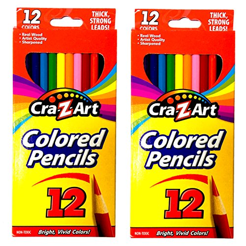 Cra-Z-art Colored Pencils, 12 Count (2 pack)