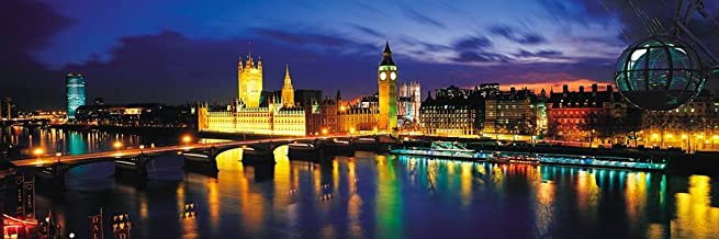 Walls 360 Peel & Stick Wall Mural: Big Ben & Houses of Parliament at Night London (36 in x 12 in)