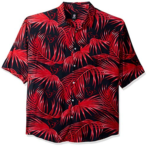 Houston Texans NFL Mens Hawaiian Button Up Shirt - XXL