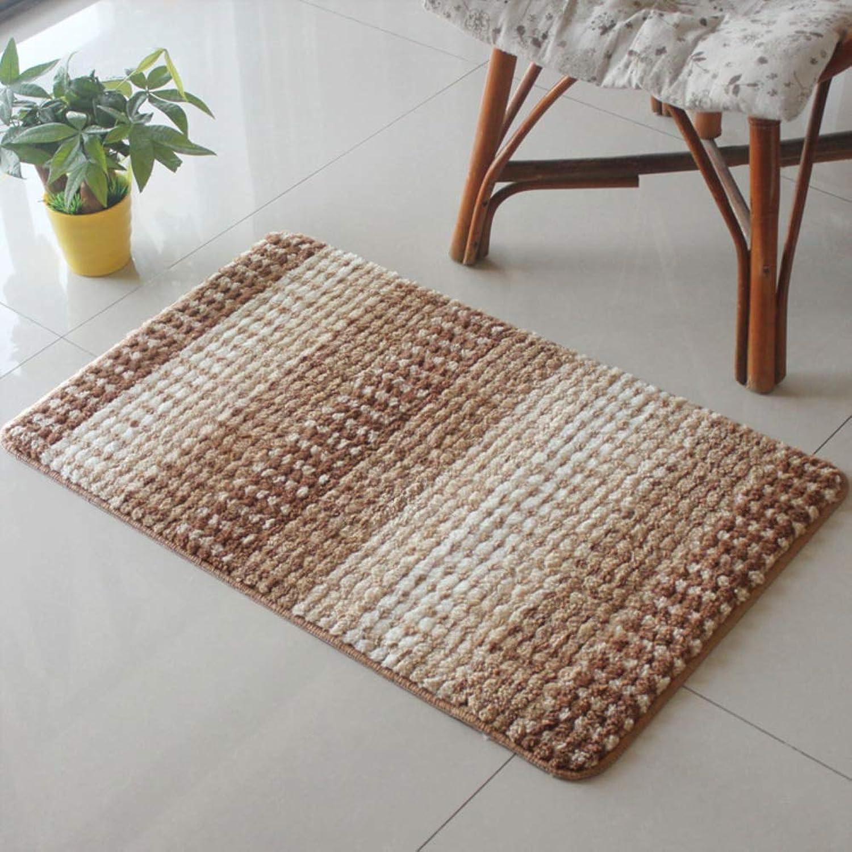 Door mat,Carpet Non Slip Door mat Bedroom Microfiber Rug Fluffy Rugs Entrance Door mats-Light tan 60x90cm(24x35inch)