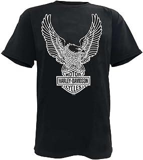 Harley-Davidson Men's T-Shirt Eagle Graphic Short Sleeve Tee Black Tee 30296656