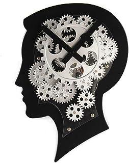 万全区孔家庄镇美衣社女装店 頭脳モデルの壁時計機ヘッドギア動的時計クリエイティブ人格ギフトクラフト時計 (色 : 1 pack)