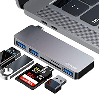 USB C Hub, 5 in 1 Aluminum Type C Adapter with USB 3.0 and SD/TF Card Reader, for New MacBook/MacBook Pro and USB C Phones Tablet Laptop