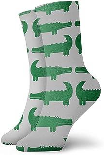 Dydan Tne, Calcetines de cocodrilo Verde de Dibujos Animados Divertidos Locos para niños