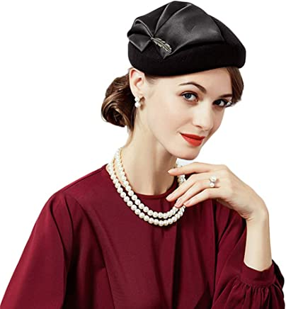 77bf23eca16 Ladies Wedding Party 100% Wool Pillbox Hat Elegant Winter Church Vintage  Hats