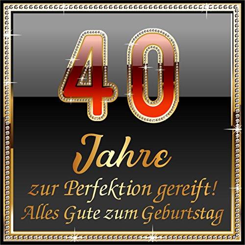 RAHMENLOS 3 St. Aufkleber Original Design: Selbstklebendes Flaschen-Etikett zum 40. Geburtstag: 40 Jahre zur Perfektion gereift!