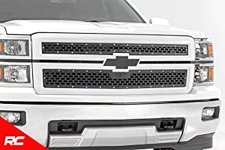 Rough Country Custom Mesh Grille Compatible w/ 2014-2015 Chevy Silverado 1500 Black Powdercoat Stainless Hardware 70101