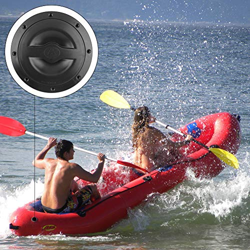 Non Kayak Deck Plate Hatch Cover,Marine Boat RV Pull Out Deck Plate Cover with Storage Bag 6 Inch
