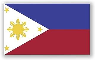 Philippine Flag Vinyl Decal Sticker Pinoy Pilipinas Filippino Filipina Car Window Bumper 5-Inch by 3-Inch Premium Quality UV Resistant Laminate JMM010