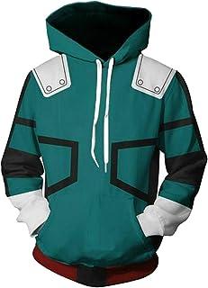 NoveltyBoy My Hero Academia Izuku Midoriya Hoodies Bakugou Katsuki Sweatshirt Pullover Costume Battle Suit Jacket
