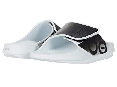 OOFOS OOahh Sport Flex (White/Black) Running Shoes