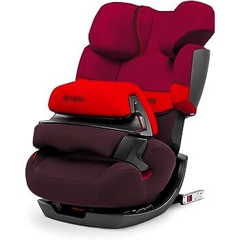 CYBEX Silver 2-in-1 Kinder-Autositz Pallas-Fix, Für Autos mit und ohne ISOFIX, Gruppe 1/2/3 (9-36 kg), Ab ca. 9 Monate bis ca. 12 Jahre, Rumba Red