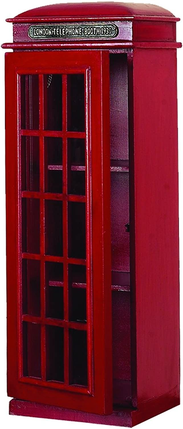 Deco 79 3-Tier London Phone Booth CD Holder
