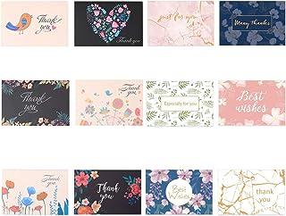 Jixista Cartoline di Ringraziamento Grazie di Biglietti Carte con Buste DIY Handmade Biglietti di Auguri per Matrimonio co...