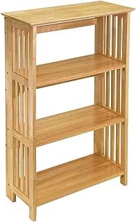 Wood & Style Premium Décor Mission 4-Tier Shelf