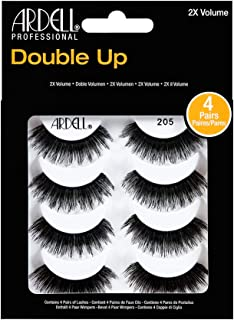 Ardell False Eyelashes 4 Pack Double Up 205, 1 pack (4 pairs per pack)