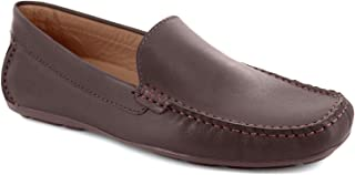 Driver Club USA Mens Genuine Leather Made in Brazil San Diego Loafer Driving Style, Brown Nappa, 7 M US