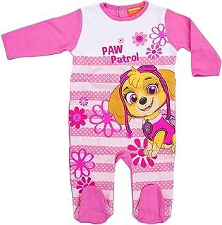 Fashion4Young 5386 Süßer Kinder Baby Schlafanzug Strampler Einteiler Overall PAW Patrol Skye Schlafstrampler