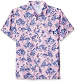 Columbia Super Slack Tide Camp Camisa para Hombre, Hombre, Color Cherry Blossom, tamaño Large