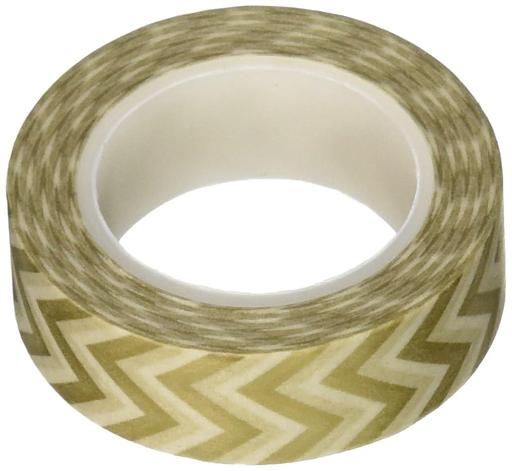 Wrapables Striped Japanese Washi Masking Tape, Gold Short Chevron