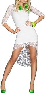 Toocool - Vestito Asimmetrico Coda Pizzo Donna Mini Abito Elegante Sexy DL-609-1 [Taglia Unica,Bianco]