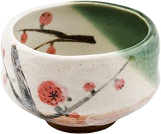 Happy Sales HSMB-CWCB1, Authentic Japanese Traditional Tea Ceremony Matcha Bowl Chawan Handcrafted in Japan, Cherry Blossom Design