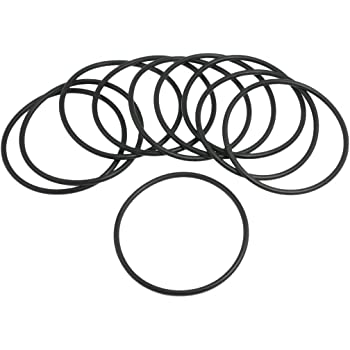 uxcell 10 Pcs 57mm x 3.1mm Black Silicone O Rings Oil Seals Gaskets