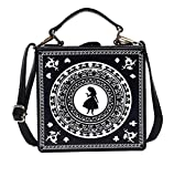 Nite closet Gothic Purses and Handbags Lolita Alice Satchel Shoulder Bag (Black)
