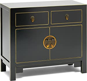 The Nine Schools Qing Black and Gilt Small Sideboard - Baumhaus