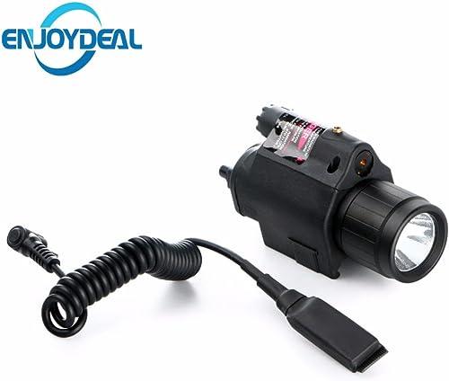 Hot Insight lumière rouge LED Cree Q5300lumens lampe de poche torche Light 2x 3V CR123A batterie pour pistolet arme de poing Noir