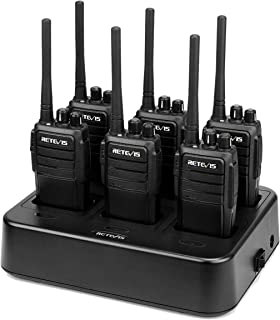 Case of 6,Retevis RT21 Walkie Talkies for Adults,Two Way Radios Long Range Rechargeable, Hands Free 2 Way Radios with Six-Way Multi Gang Charger for Business Commercial Work