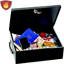 Master Lock 7149EURD Caja Fuerte [Antifuego] [con Llave] [Manejar] 7149EURD-Caja de Seguridad para Pequeña, Smarphone, A4 Documentos