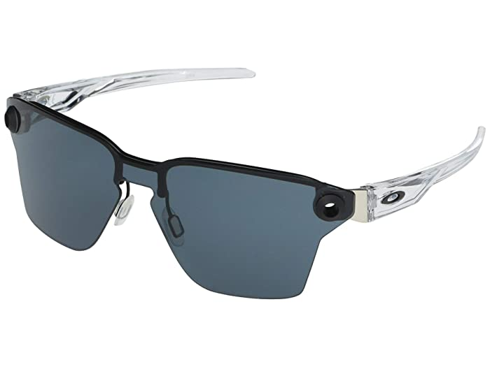Oakley  39 mm Lugplate (Satin Black Frame Prizm Grey Lens) Fashion Sunglasses