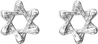 WEDO ستة المدببة ستار أقراط استرلينية الفضة تراجس هيليكس أقراط الأذن القضبان النساء الرجال المجوهرات