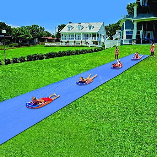 Lvhan Wasserrutsche - Rutschmatte Riese mit Aufbewahrungstasche,Kinder Wasser Spielzeug für Garten Rase 1.5x8M