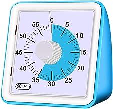 Temporizador analógico visual de 60 minutos, temporizador visual, temporizador de leitura, temporizador digital eletrônic...