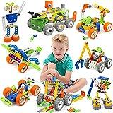 Giochi Costruzioni per Bambini, Kit di blocchi da costruzione per bambini, 175pz 11-in-1 Giocattolo educativo creativo da costruzione Set di apprendimento ingegneristico per bambini dai 5 ai 12 anni
