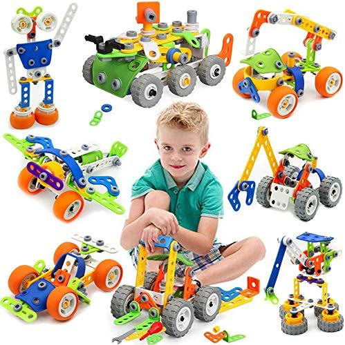 175 Piezas Bloques de Construcción,Juguetes para Niños de 5,6,7,8 Años y Mayores, juego construccion,Aprendizaje de Juegos de Construcción Educativa para 9, 10 Años,Mejor Regalo de Juguete para Niños