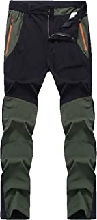 fanhang Outdoor Relaxed Fit Quick Dry Lightweight Waterproof Breathable Hiking Mountain Ski Fishing Pants for Men Women