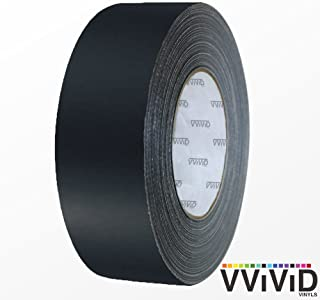 VViViD Black Matte Air-Release Adhesive Vinyl Tape Roll (4 Inch x 20ft)