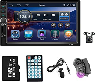 $79 » 2021 New Double din 7 inch Touchscreen car Stereo Receiver 1080P HD Digital Video Player Bluetooth FM Radio for car Suppor...