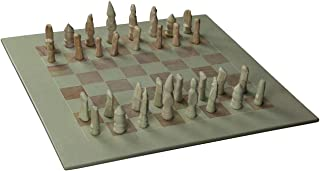 Zeckos Hand Carved Soapstone African Animals Chess Set with 16 Inch Square Board