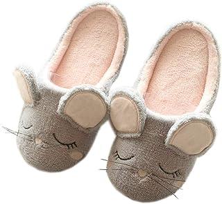 Zapatillas De Mujer Zapatillas De Animales De Otoño E Invierno Zapatillas De Ciervo De Navidad Zapatillas De Felpa Cálidas...